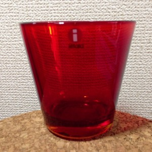 Kartio / Glass 21 cl / red / Kaj Franck 1958